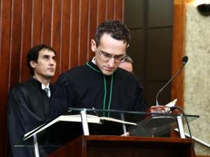 O juiz Rolando Valcir Spanholo, durante cerimônia de posse no Tribunal Regional Federal, em Brasília (Foto: Tribunal Regional Federal/Divulgação)