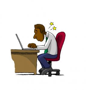 Falta de ergonomia no ambiente de trabalho