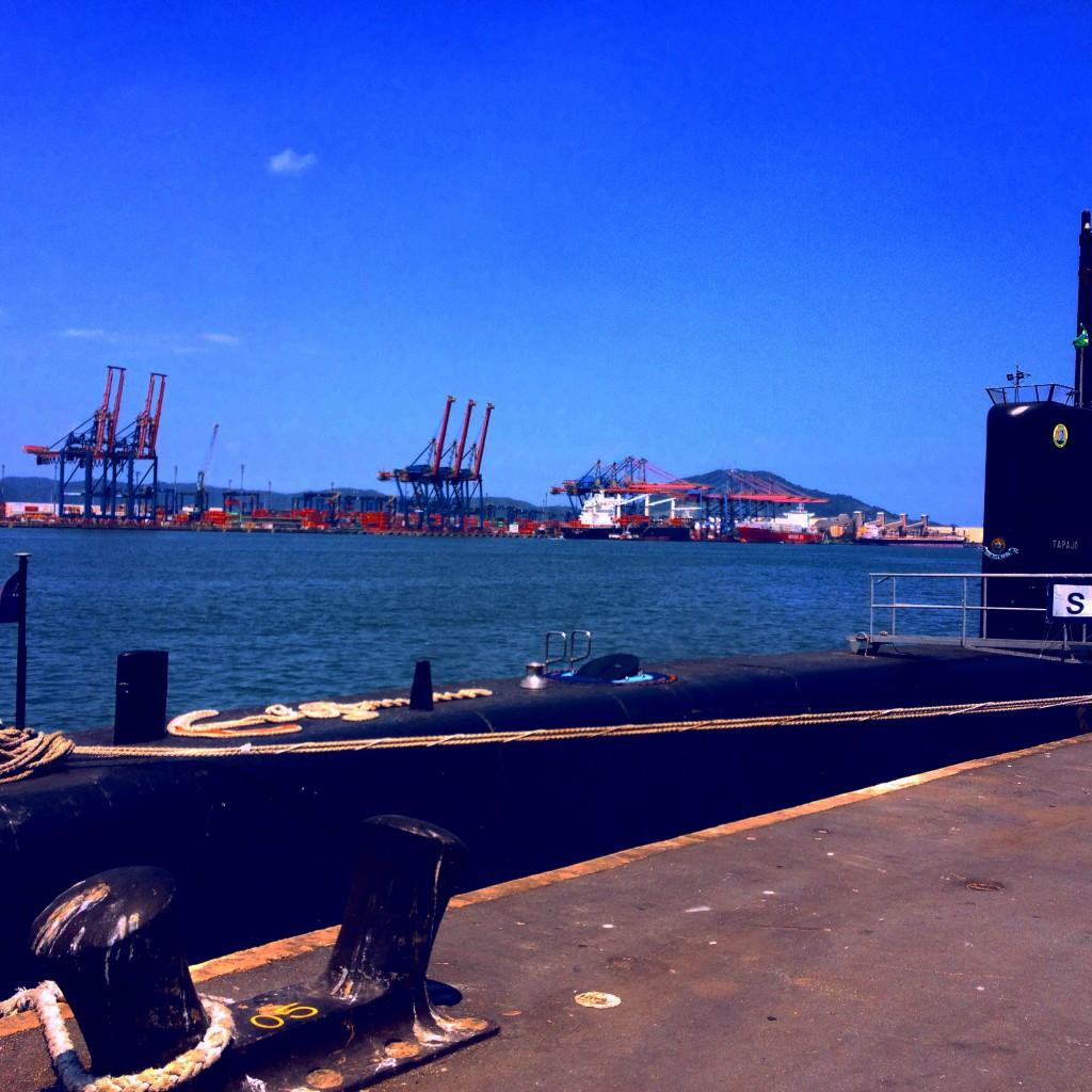 Porto de Santos - Submarino Tapajós (Marinha do Brasil)