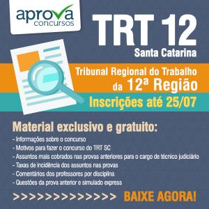 TRT 12 Temas mais cobrados