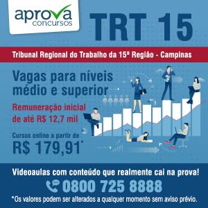 Concurso TRT 15 tem edital publicado
