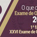 1ª fase do XXVI Exame de Ordem