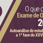 Autoanálise de estudos para o XXVI