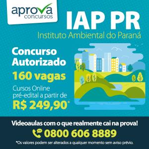 IAP PR terá concurso com 160 vagas