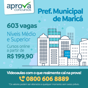 Prefeitura de Maricá (RJ) inscreve para mais de 600 vagas