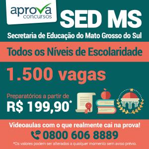 SED MS abre concurso com 1.500 vagas