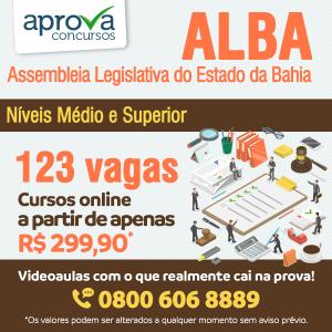 ALBA tem concurso público com 123 vagas