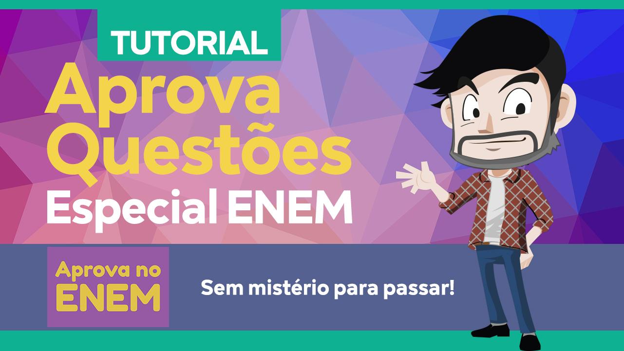 ENEM 2019 - Veja como é FÁCIL usar o aplicativo do APROVA QUESTÕES