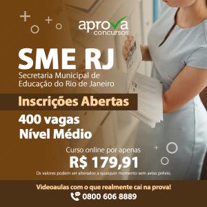 SME RJ tem CONCURSO ABERTO com 400 VAGAS