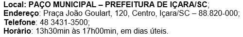 concurso público Prefeitura de Içara